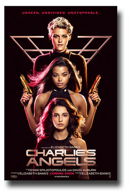 "Charlie's Angels Movie Poster - 11""x17"" 2019 Dark3 SameDay Ship from USA"
