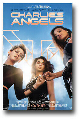 "Charlie's Angels Movie Poster - 11""x17"" 2019 Fist Bump SameDay Ship from USA"