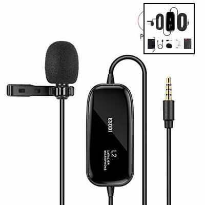 "Lavalier Microphone Omnidirectional Lapel Mic W 236"" Cord Perfect For Recording"