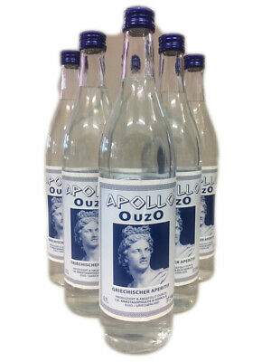 6 Flaschen Apollo Ouzo 700ml 37,5%vol