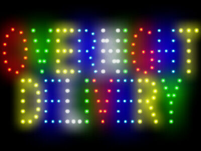 3q0322 Overnight Delivery Trade Led Neon Sign Display Light Sign New