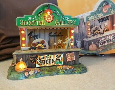 Dept 56 Halloween Village Animated CATS BATS & RATS SHOOTING GALLERY 4036589
