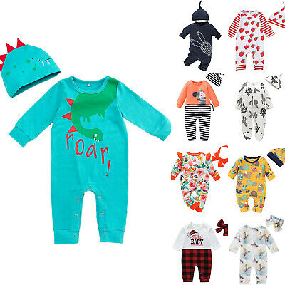 Newborn Toddler Baby Girls Clothes Romper Jumpsuit Bodysuit Outfits Sunsuit Set