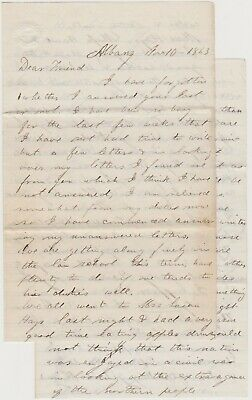Civil War 1863 Albany Ny Letter - Great Content - Copperheads - War News & More