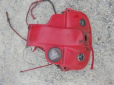 Ford 8N Tractor LATE MODEL dash assembly w/ gauges & Tachometer 8N key back