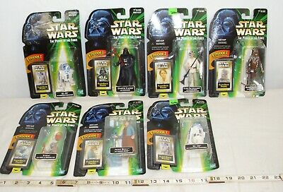 Star Wars Power Of The Force Lot Of 7 Action Figures Carded Kenner, Darth, Luke+