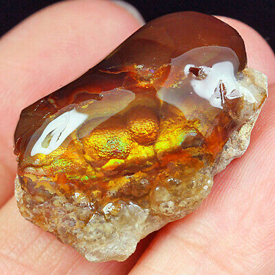 36.35Ct 100% Natural Mexican Multi-Colored Fire Agate Facet Rough YFM1810