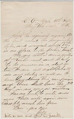 MAY 31 1864 CIVIL WAR SOLDIER LETTER - 35th MASS - JUST BEFORE COLD HARBOR
