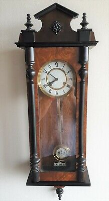Vienna Wall Clock West German Vintage Hermle Key Pendulum