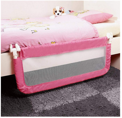 Safety Bed Guards Baby Portable Rail Guard Kids Toddler Child Pink