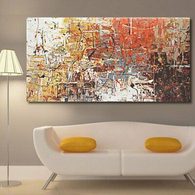 Large Modern Abstract Oil Canvas Print Painting Picture Home Wall Hang Decor UK