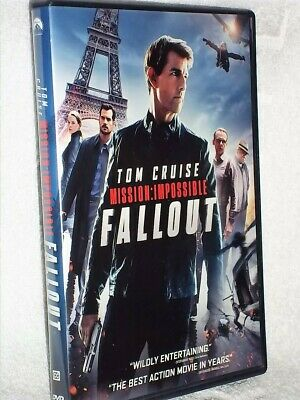 Mission Impossible Fallout (DVD, 2018) comedy Tom Cruise Rebecca Ferguson Henry