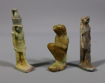 Unusual Collection Of Tiny Ancient Egyptian Antiquities Artifacts Scarabs Etc.