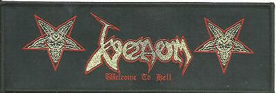 VENOM welcome to hell - WOVEN SEW ON PATCH
