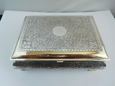 Superb Vintage Persian / Indian Silver Box