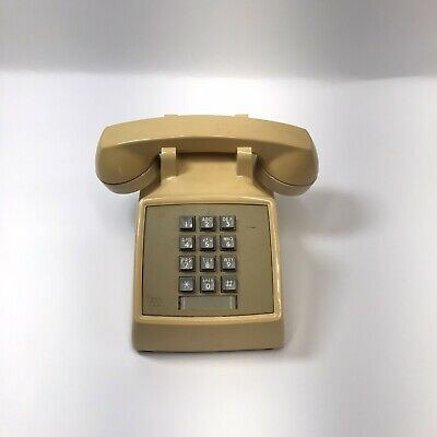 Vintage Western Electric Bell System Touchtone Desk Telephone 2500MM Beige