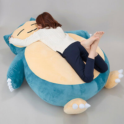 "Huge 59"" Pokemon Go Snorlax Plush Toys Doll Pillow Bed ONLY COVER WITH ZIPPER"