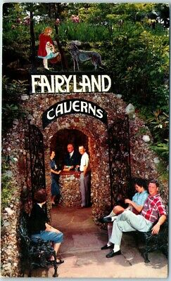 ROCK CITY GARDENS Postcard Fairyland Caverns Entrance View Chattanooga TN c1960s