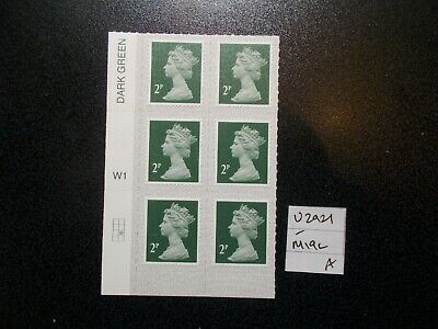 6 x GB 2019~Security Machin~2p~SG U2921~M19L~S/A~WB~Unmounted Mint~A~UK