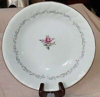 """9"""" Round Vegetable Bowl Royal Swirl by FINE CHINA OF JAPAN"""