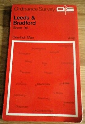 Ordnance Survey Map Sheet 96 LEEDS & BRADFORD (One Inch Map)