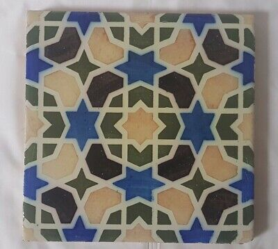 Persian-Influenced English 8 Inch 19Th Century Tile