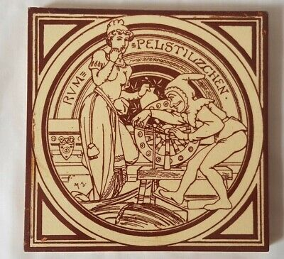 MINTON runpelstiltskin MOYR-SMITH 6 INCH 19TH CENTURY TILE