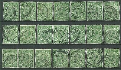 GB George V 1912 SG344 1/2d green shades - CDS Collection - VFU