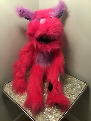 The Puppet Company Large Pink Monster Hand Puppet, With Squeak, New With Tags
