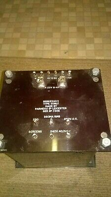 Parmeko mains transformer type 5081/1.for PX4 amplifier.Tested working.massive.