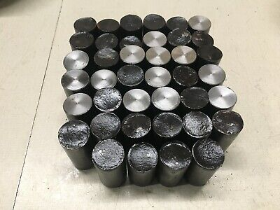1 inch diameter 1045 steel bar end scrap lot,40 pcs.