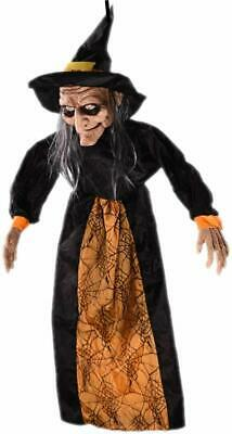 Life Size Hanging Animated Talking Witch Halloween Prop Haunted House Decoration
