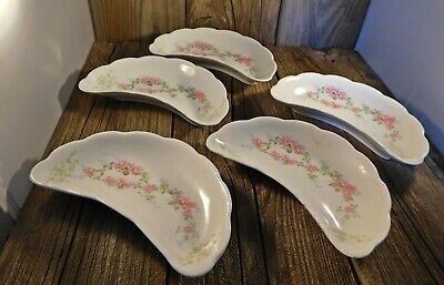 Antique Victorian Bone Plates China 5 Homer Laughlin The Angelus