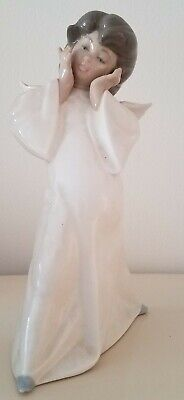 LLADRO Mime Angel Figurine, Lot 4959 (retired), glazed with gloss finish