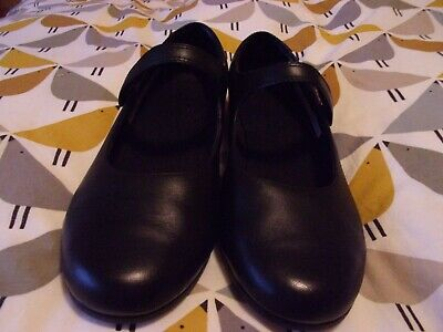 Clarks Scala Pure Youth girls black shoes size 5.5/39 width H