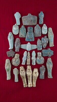 lot of 28 Ancient Egyptian Antiques rare Amulets (1816 BC)