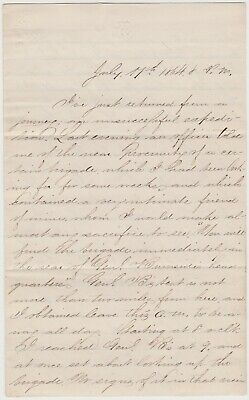 July 17 1864 Civil War Soldier Letter  Siege Of Petersburg - Great Content