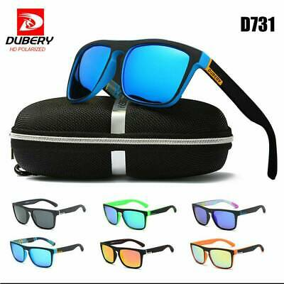 DUBERY Polarized Sunglasses Men/Women Square Cycling Sport Driving Fishing UV400