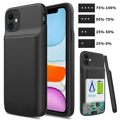 For Apple iPhone 11 Pro Max 2019 Soft TPU Power Bank Charging Battery Case Cover