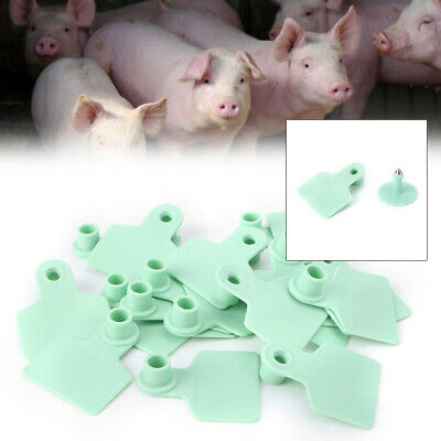 100PCS Blank Plastic Livestock Ear Tag Animal Tag for Goat Sheep Pig