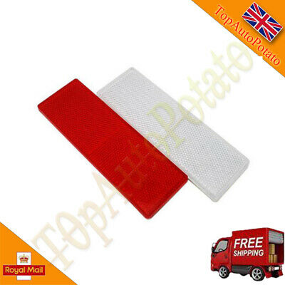 White+Red Car Rectangular Side Marker Reflector For Trailer Caravan Truck
