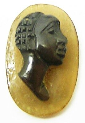 1st - 2nd century Nice Ancient Roman Hardstone Agate Cameo of an African Head
