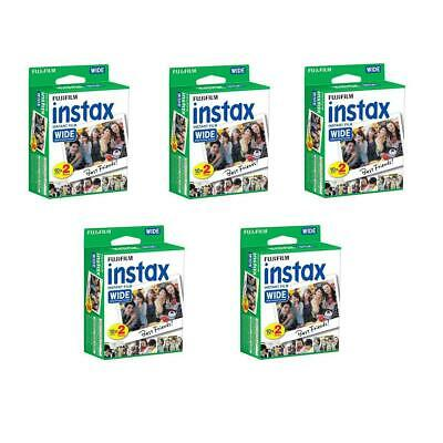 Fujifilm 5 Pack 20-Pack Instax Wide Instant Color Print Film, ISO 800 #164684985