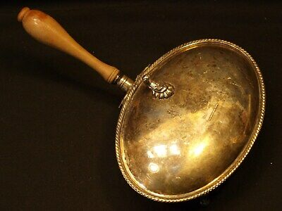 Vintage FB Rogers Silver Co Silver On Copper 188 Footed Lion Crest Silent Butler