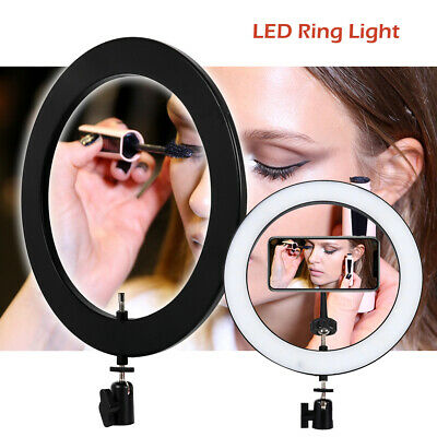 10in Portable LED Ring Light for Video Photo Makeup Desktop Dimmable Light Live.