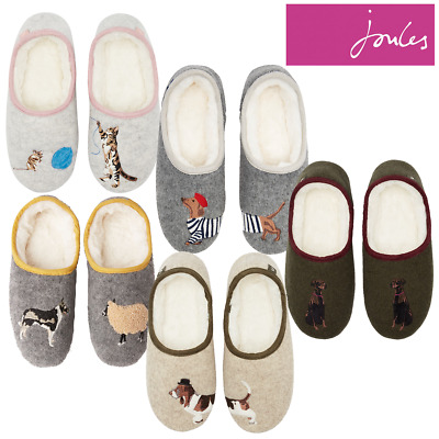 Joules Slippet Felt Character Mules Slippers **FREE UK Shipping**