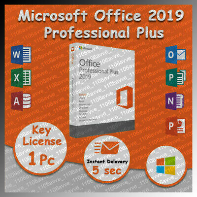 Microsoft Office 2019 Pro Professional Plus 🔥 Genuine License Key 1PC INSTANT🔥