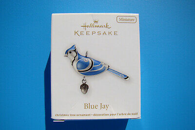 New Hallmark Blue Jay Miniature Beauty Of Birds 2012 #3 Ornament Damaged Box - A
