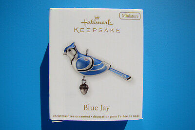 New Hallmark Blue Jay Miniature Beauty Of Birds 2012 #3 Ornament Damaged Box - D