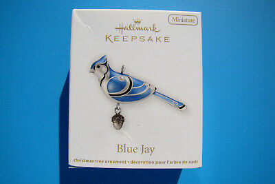 New Hallmark Blue Jay Miniature Beauty Of Birds 2012 #3 Ornament Damaged Box - F